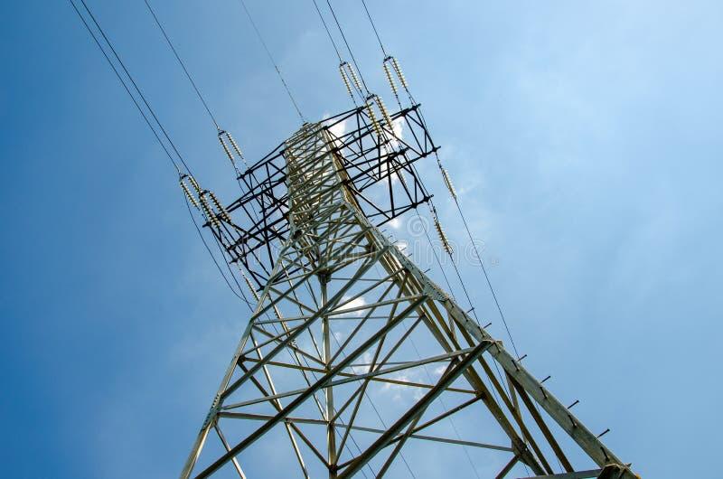 Ένας πύργος μετάδοσης ή πύργος δύναμης στοκ εικόνα με δικαίωμα ελεύθερης χρήσης