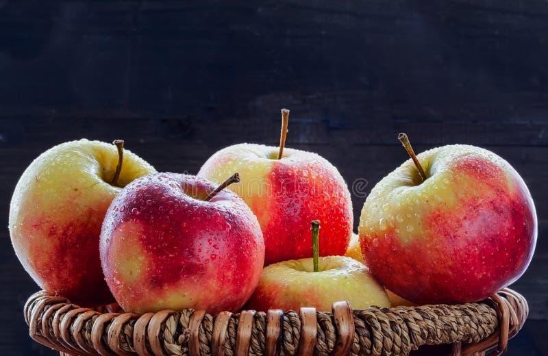 Ένα καλάθι που γεμίζουν με τα μήλα στοκ εικόνα με δικαίωμα ελεύθερης χρήσης