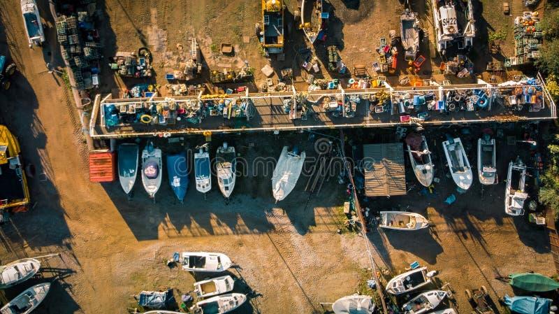 Ένα ναυπηγείο αλιευτικών σκαφών στοκ φωτογραφίες με δικαίωμα ελεύθερης χρήσης