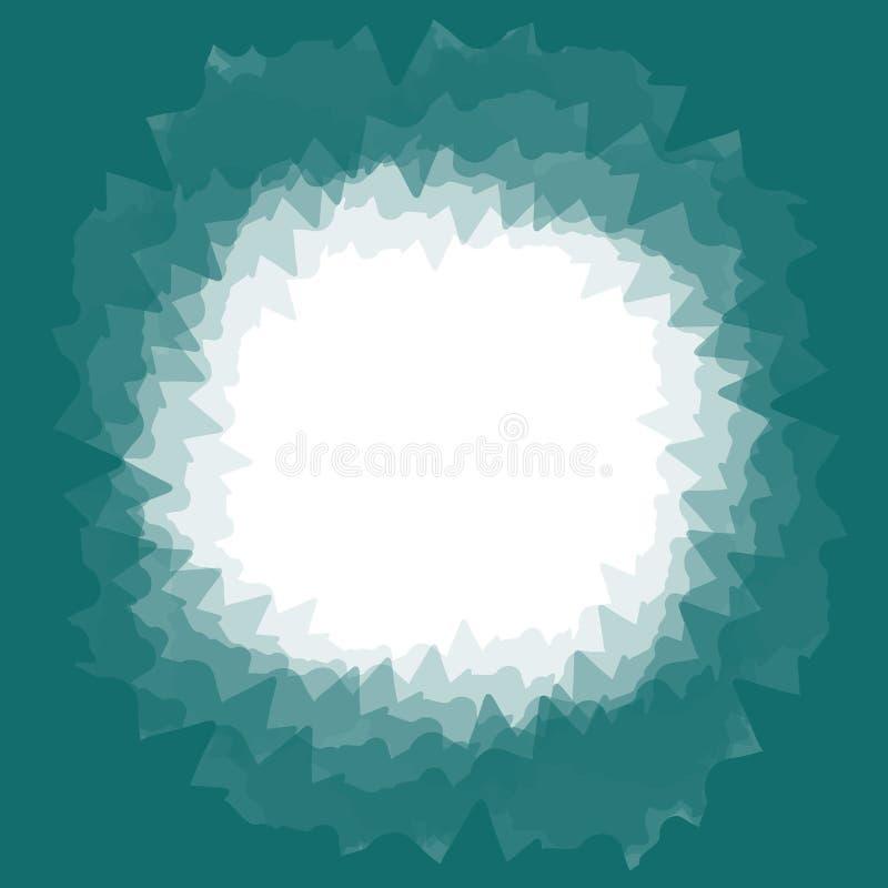 Ένα τετραγωνικός-διαμορφωμένο υπόβαθρο σε ένα σκοτάδι - πράσινο - μπλε χρώμα διανυσματική απεικόνιση