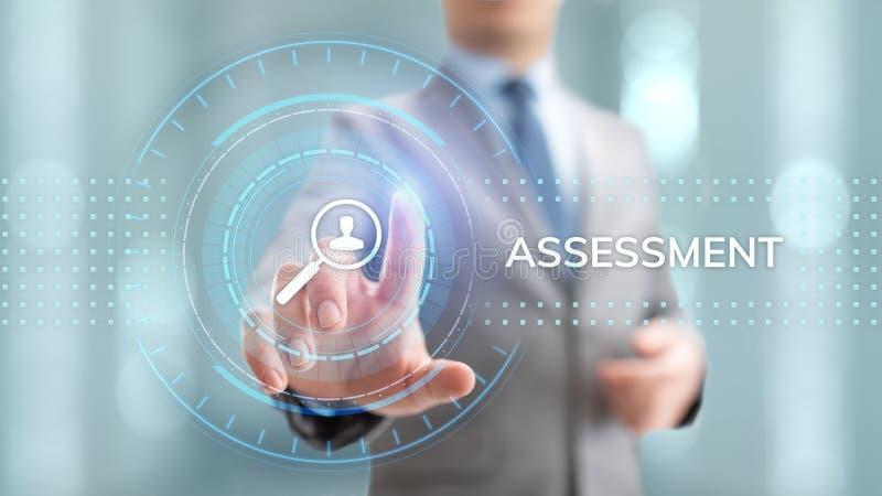 Έννοια επιχειρησιακής ανάλυσης αξιολόγησης αξιολόγησης στην οθόνη διανυσματική απεικόνιση