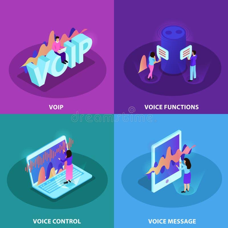 Έννοια σχεδίου ελέγχου 2x2 φωνής απεικόνιση αποθεμάτων