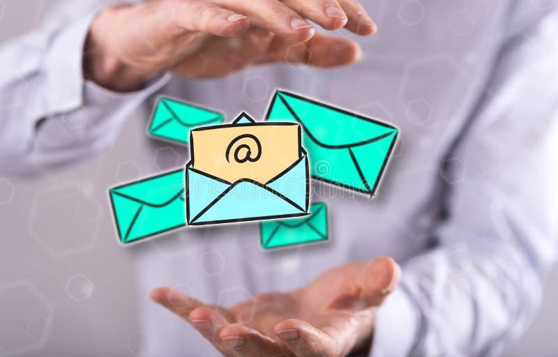Έννοια του ηλεκτρονικού ταχυδρομείου απεικόνιση αποθεμάτων