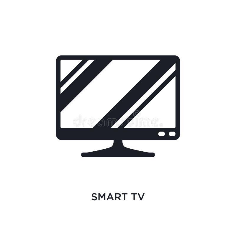 έξυπνο απομονωμένο TV εικονίδιο απλή απεικόνιση στοιχείων από τα εικονίδια έννοιας ηλεκτρονικών συσκευών έξυπνο σύμβολο σημαδιών  ελεύθερη απεικόνιση δικαιώματος