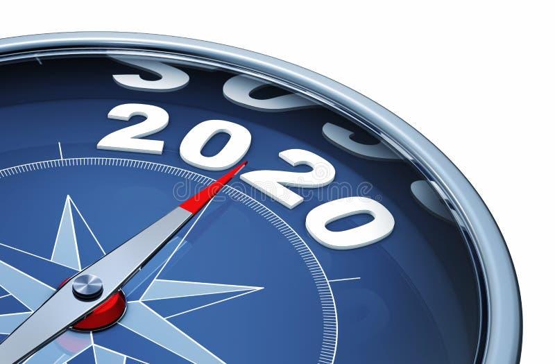 Έτος 2020 ελεύθερη απεικόνιση δικαιώματος