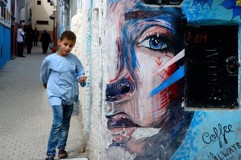 Αγόρι στις οδούς της Rabat, Μαρόκο στοκ φωτογραφίες με δικαίωμα ελεύθερης χρήσης