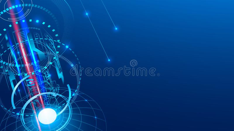 Αεροδιαστημικό αφηρημένο υπόβαθρο Μετάδοση του ραδιο σήματος από το διάστημα ελεύθερη απεικόνιση δικαιώματος