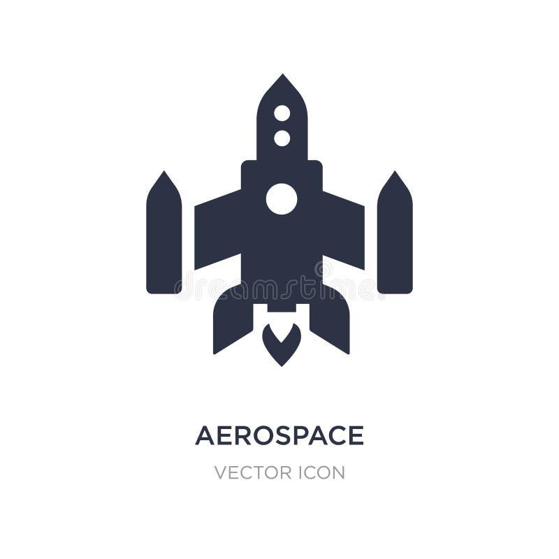 αεροδιαστημικό εικονίδιο στο άσπρο υπόβαθρο Απλή απεικόνιση στοιχείων από την έννοια αστρονομίας ελεύθερη απεικόνιση δικαιώματος