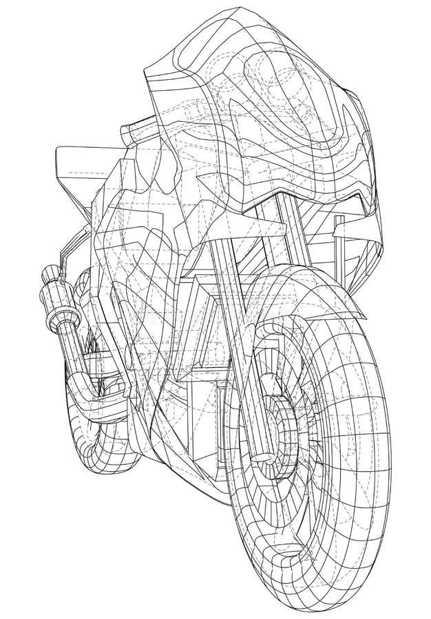 Αθλητικό ποδήλατο σχεδιαγραμμάτων EPS10 μορφή Διάνυσμα που δημιουργείται τρισδιάστατου απεικόνιση αποθεμάτων