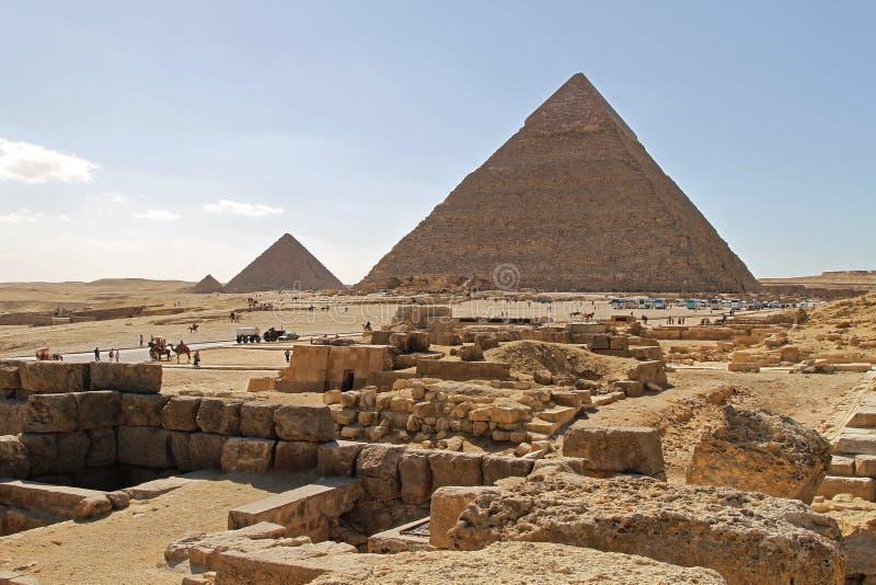Αιγυπτιακή ηλιόλουστη ημέρα πυραμίδων στοκ φωτογραφία με δικαίωμα ελεύθερης χρήσης