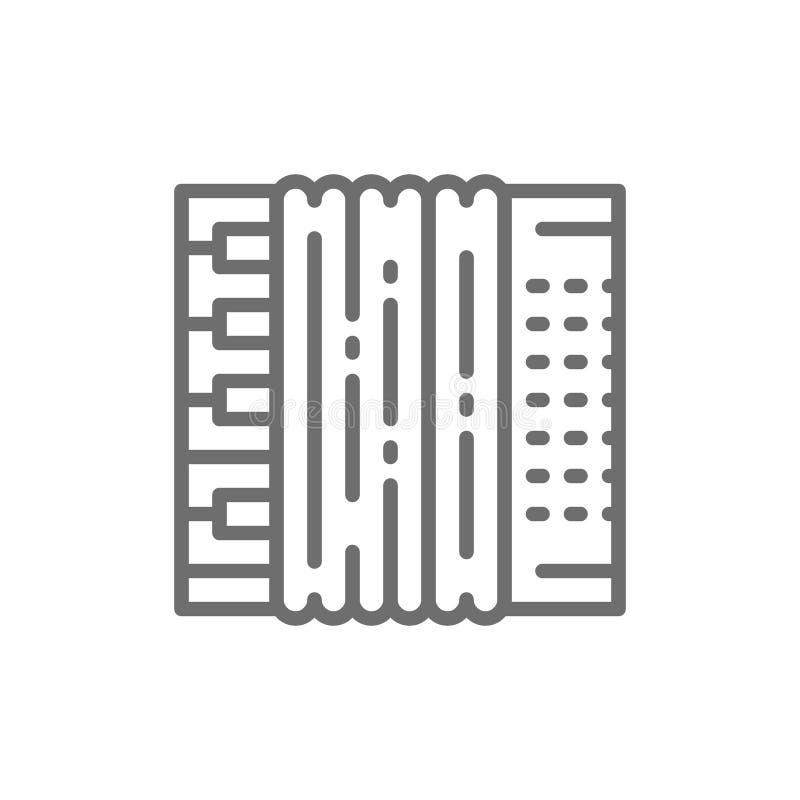 Ακκορντέον, bayan εικονίδιο γραμμών απεικόνιση αποθεμάτων