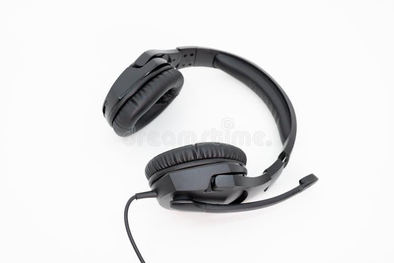 Ακουστικά τυχερού παιχνιδιού με το καλώδιο στοκ εικόνες