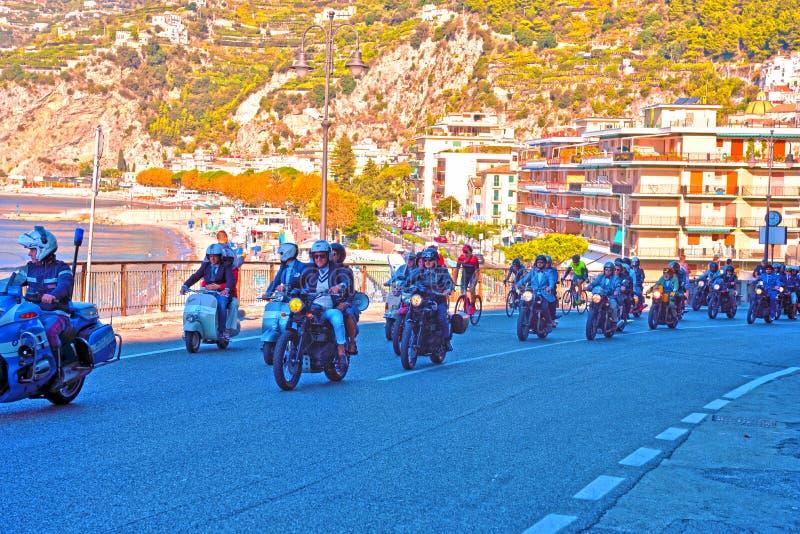 Ακτή Ιταλία Amalfitan Maiori στοκ εικόνες