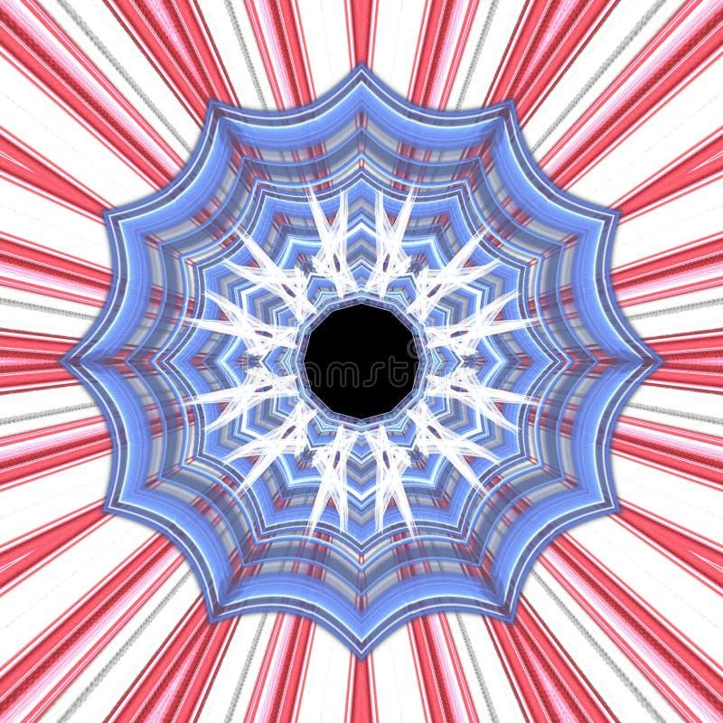 Ακτινωτός κόκκινος άσπρος και μπλε γραφικός ελεύθερη απεικόνιση δικαιώματος