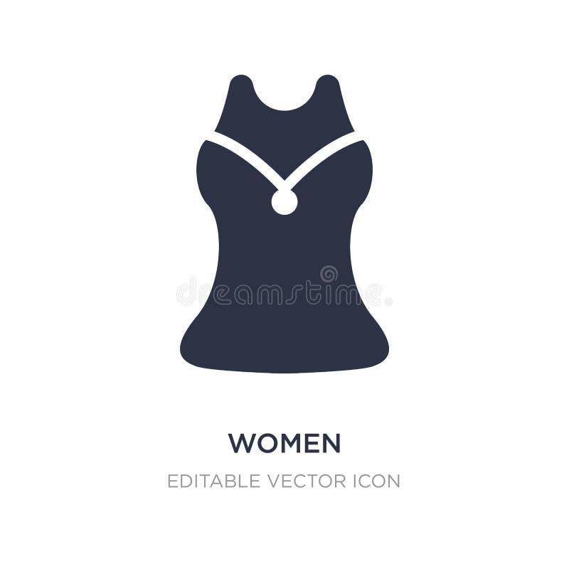 αμάνικο εικονίδιο πουκάμισων γυναικών στο άσπρο υπόβαθρο Απλή απεικόνιση στοιχείων από την έννοια μόδας ελεύθερη απεικόνιση δικαιώματος