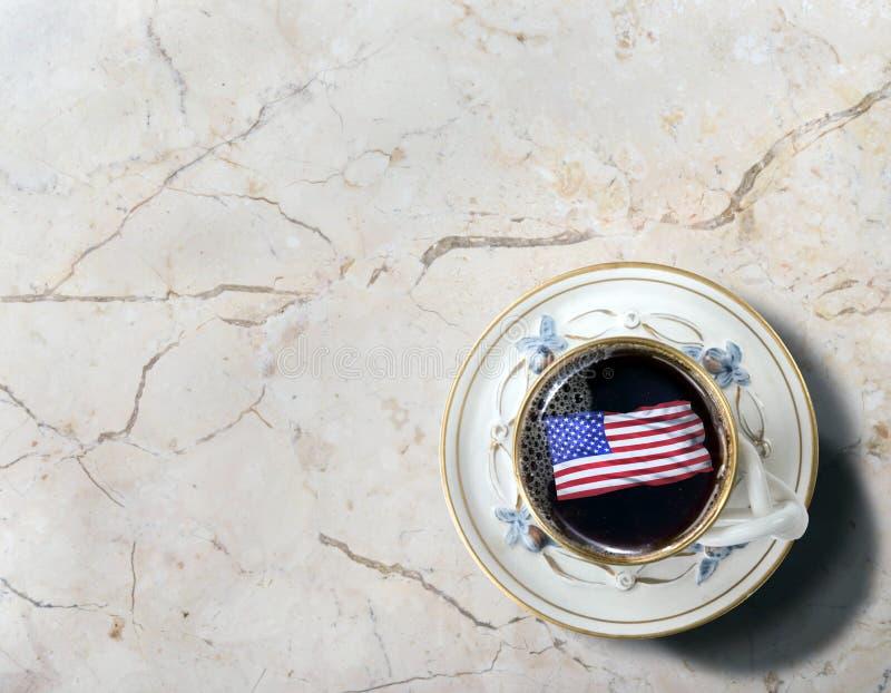 Αμερικανικός καφές πρωινού στοκ φωτογραφίες