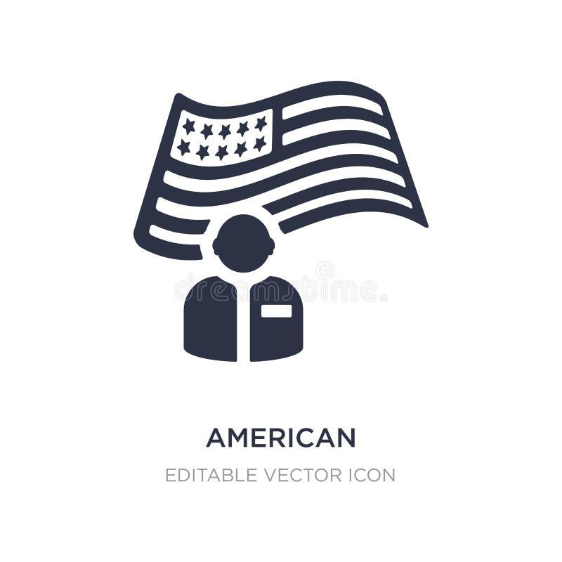 αμερικανικό εικονίδιο στο άσπρο υπόβαθρο Απλή απεικόνιση στοιχείων από την έννοια αποκριών απεικόνιση αποθεμάτων
