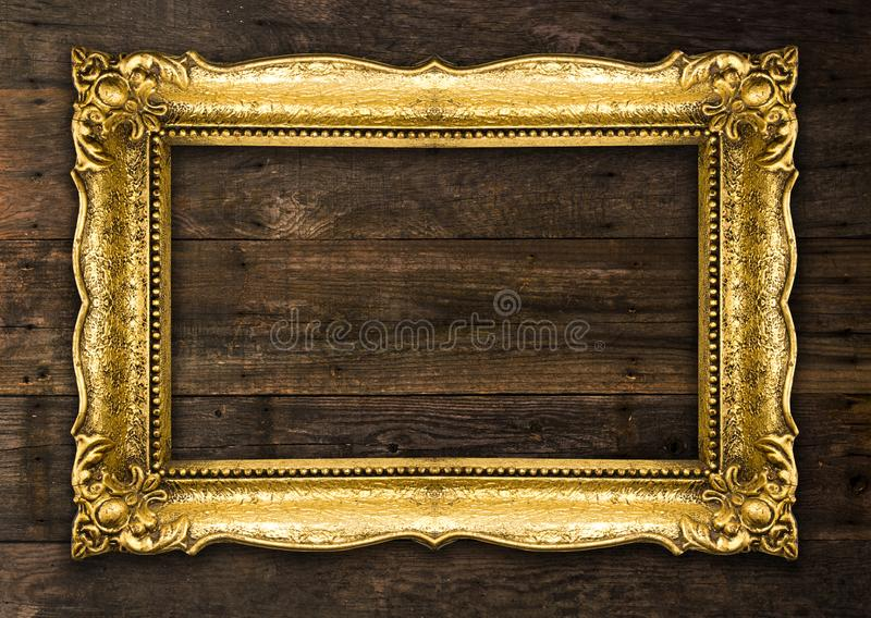 Αναδρομικό πλαίσιο εικόνων αναγέννησης παλαιό χρυσό αγροτικό στοκ φωτογραφίες
