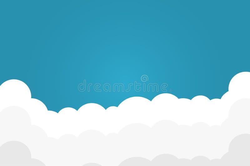 ανασκόπησης μπλε λευκό ουρανού σύννεφων καλυμμένο πρωί ελεύθερη απεικόνιση δικαιώματος