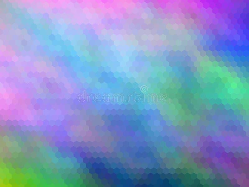 ανασκόπηση νέα Πολύχρωμος, hexagonally ελεύθερη απεικόνιση δικαιώματος