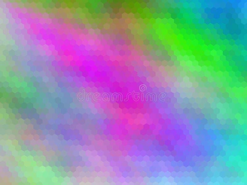 ανασκόπηση νέα Πολύχρωμος, hexagonally διανυσματική απεικόνιση