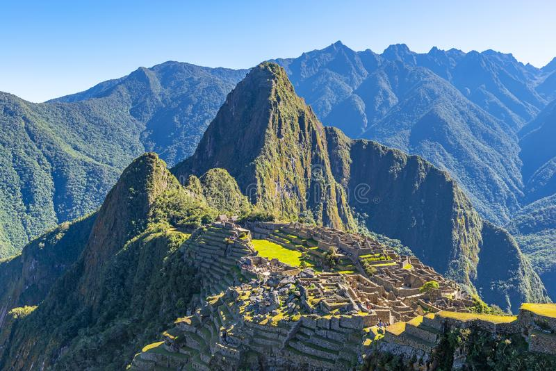 Ανατολή σε Machu Picchu, Περού στοκ φωτογραφία με δικαίωμα ελεύθερης χρήσης