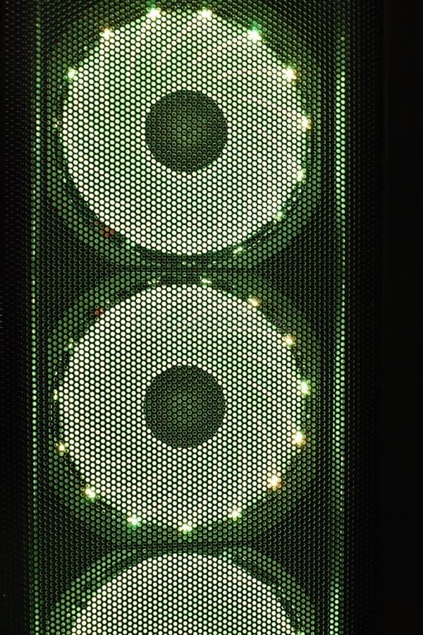 Ανεμιστήρες υπολογιστών με το φωτισμό στοκ φωτογραφία