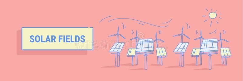 Ανεμοστροβίλων ηλιακής ενέργειας επιτροπής τομέων ανανεώσιμη φωτοβολταϊκή περιοχή έννοιας πηγής ηλεκτρικής ενέργειας σταθμών εναλ απεικόνιση αποθεμάτων