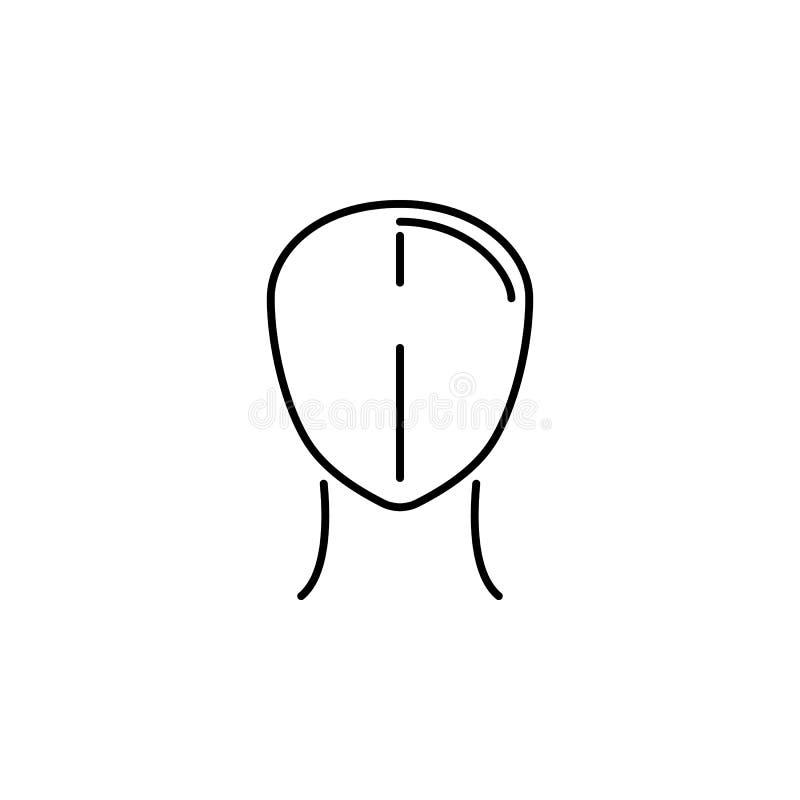 Ανθρώπινο εικονίδιο περιλήψεων οργάνων επικεφαλής Τα σημάδια και τα σύμβολα μπορούν να χρησιμοποιηθούν για τον Ιστό, λογότυπο, κι απεικόνιση αποθεμάτων