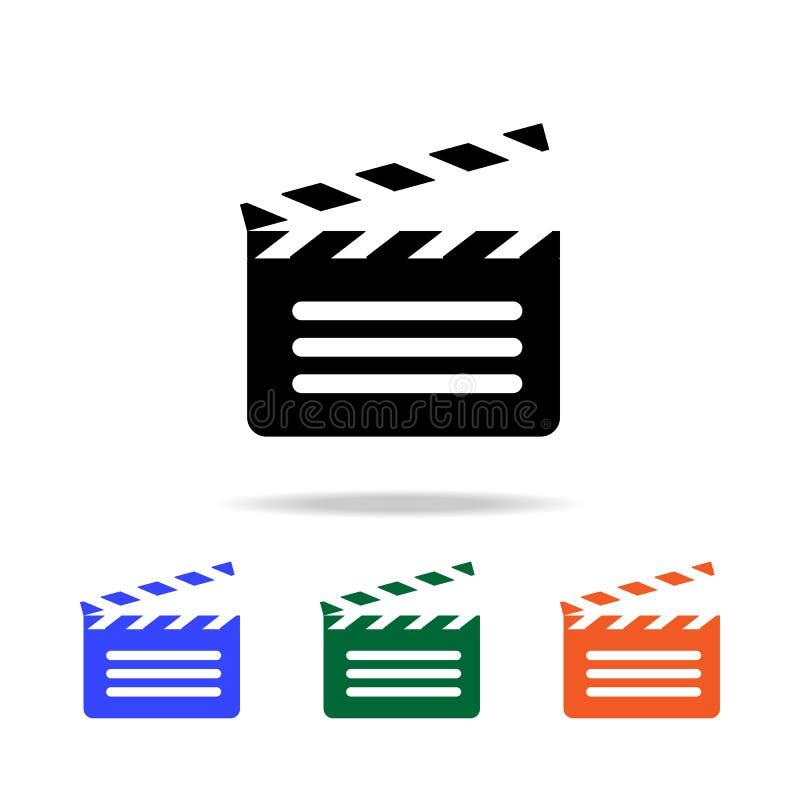 ανοικτό εικονίδιο κροτίδων κινηματογράφων Στοιχεία του απλού εικονιδίου Ιστού στο πολυ χρώμα Γραφικό εικονίδιο σχεδίου εξαιρετική διανυσματική απεικόνιση