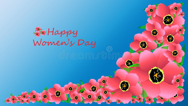 Ανοικτό ροζ τουλίπες για την ημέρα των γυναικών ελεύθερη απεικόνιση δικαιώματος