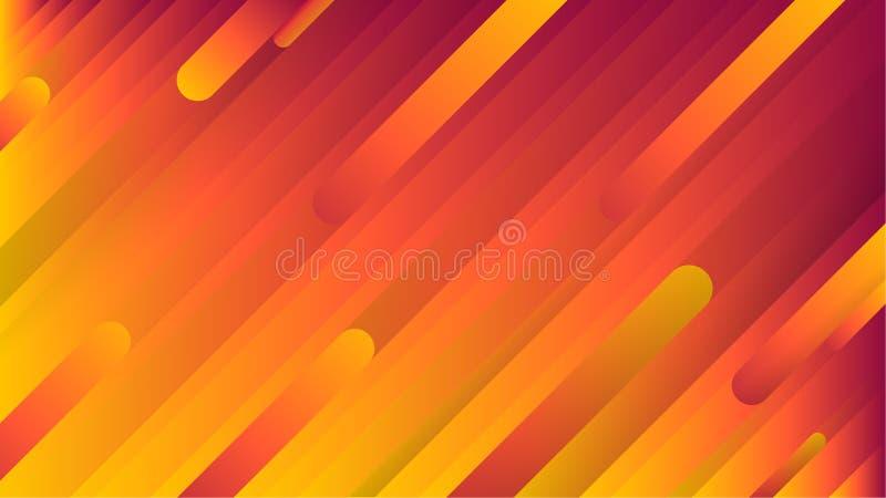 Ανοικτό πορτοκαλί, κόκκινο και κίτρινο διανυσματικό σχέδιο με τις στενές γραμμές διανυσματική απεικόνιση