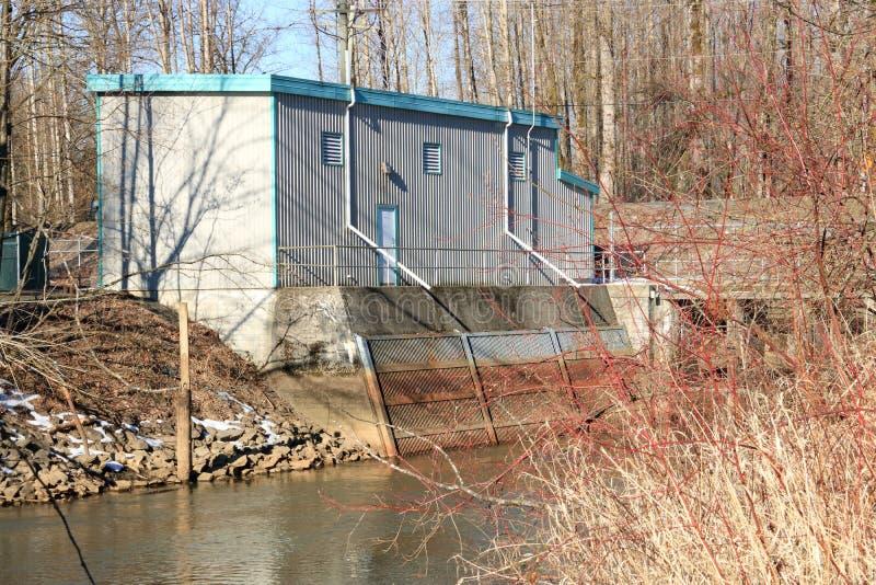 Αντλιοστάσιο και κολπίσκος νερού στοκ εικόνες με δικαίωμα ελεύθερης χρήσης