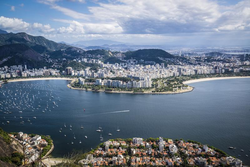 Ανυψωμένη άποψη του Ρίο, Ρίο ντε Τζανέιρο, Βραζιλία στοκ εικόνες