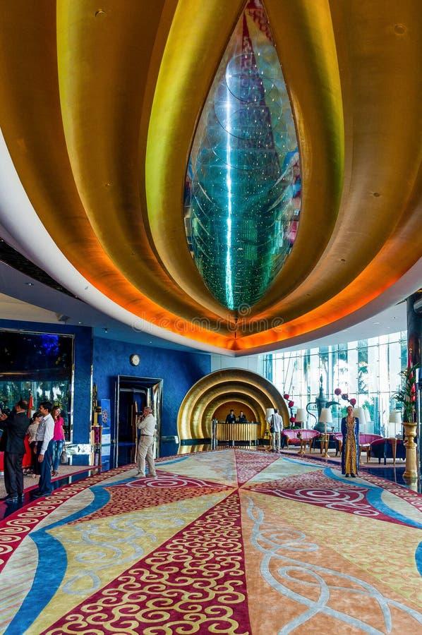 Αραβικό ξενοδοχείο Al Burj στο Ντουμπάι, Ε.Α.Ε. στοκ φωτογραφία με δικαίωμα ελεύθερης χρήσης