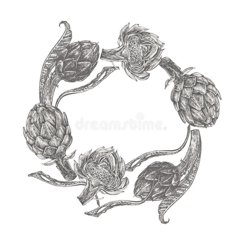 αρθρόποδων συρμένος εικονογράφος απεικόνισης χεριών ξυλάνθρακα βουρτσών ο σχέδιο όπως το βλέμμα κάνει την κρητιδογραφία σε παραδο στοκ εικόνες με δικαίωμα ελεύθερης χρήσης