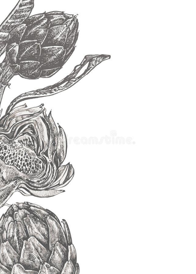 αρθρόποδων συρμένος εικονογράφος απεικόνισης χεριών ξυλάνθρακα βουρτσών ο σχέδιο όπως το βλέμμα κάνει την κρητιδογραφία σε παραδο στοκ φωτογραφίες με δικαίωμα ελεύθερης χρήσης
