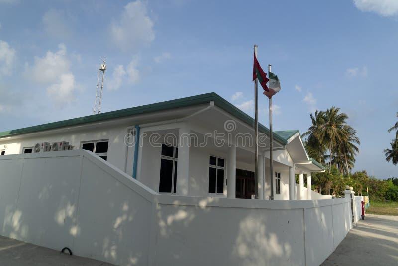 Αρσενική αίθουσα δικαιοσύνης ατολλών των Μαλδίβες Guraidhoo στοκ εικόνες