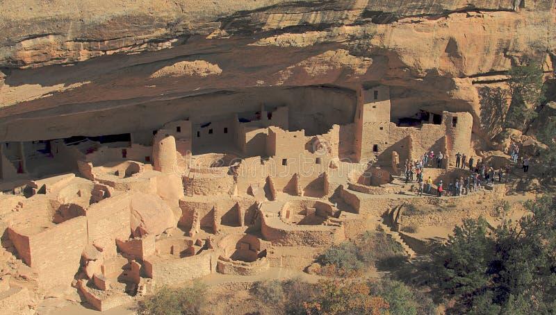 Αρχαίες κατοικίες απότομων βράχων του εθνικού πάρκου Mesa Verde στοκ φωτογραφία με δικαίωμα ελεύθερης χρήσης