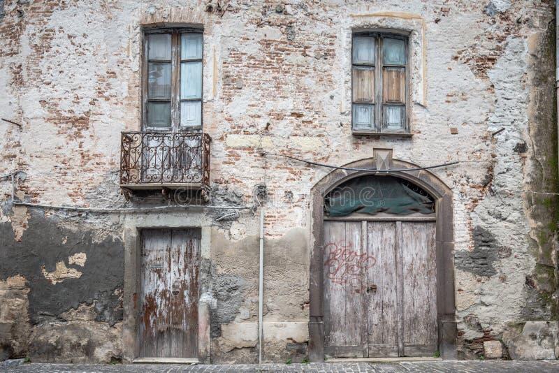 Αρχαίο ιταλικό σπίτι στοκ εικόνες