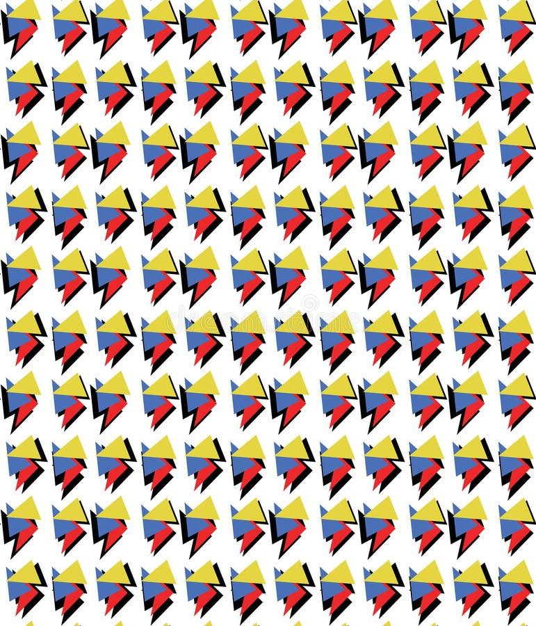Αρχικό γεωμετρικό σχέδιο Μέμφιδα-ύφους χρώματος απεικόνιση αποθεμάτων