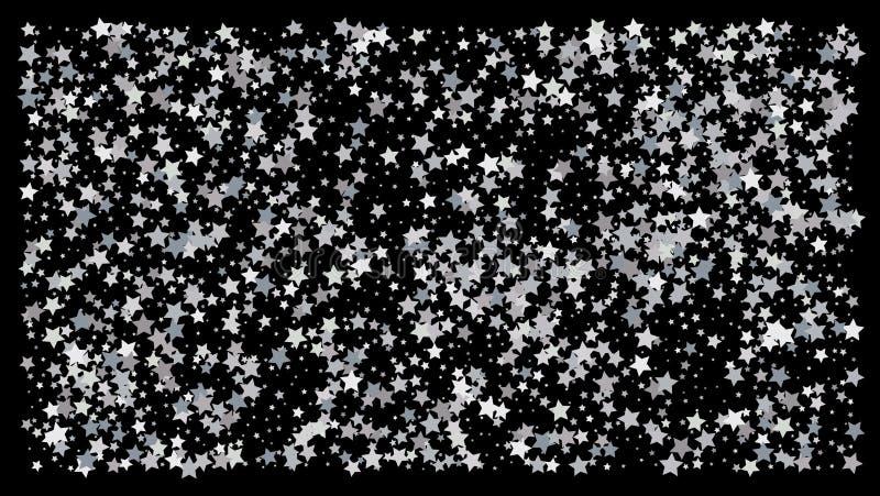 ασημένια αστέρια Εορτασμός κομφετί απεικόνιση αποθεμάτων
