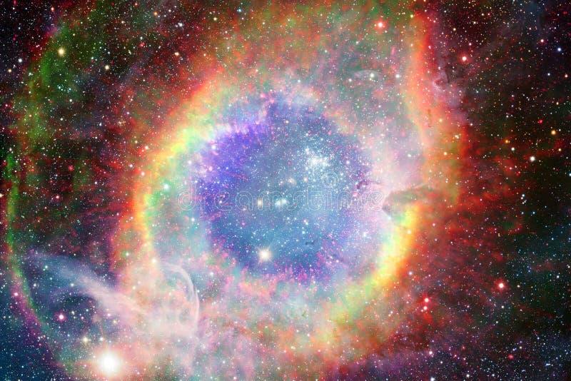 Αστέρια, γαλαξίες και nebulas στην τρομερή κοσμική εικόνα στοκ φωτογραφία με δικαίωμα ελεύθερης χρήσης