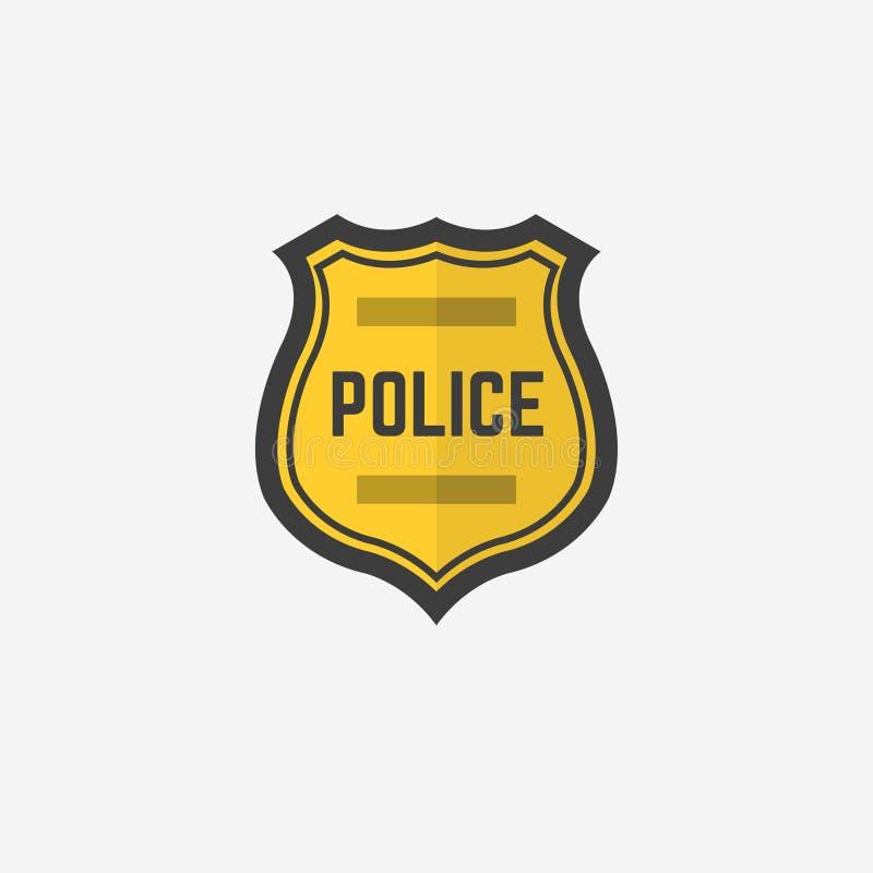 αστυνομία απεικόνισης σχεδίου διακριτικών Διακριτικό αστυνομίας εικονιδίων επίσης corel σύρετε το διάνυσμα απεικόνισης 10 eps ελεύθερη απεικόνιση δικαιώματος