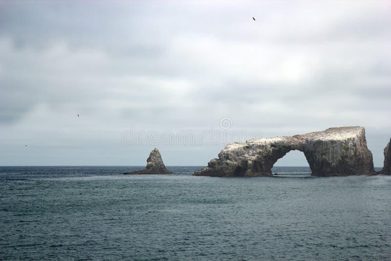 Αψίδα νησιών Anacapa, Καλιφόρνια στοκ εικόνες