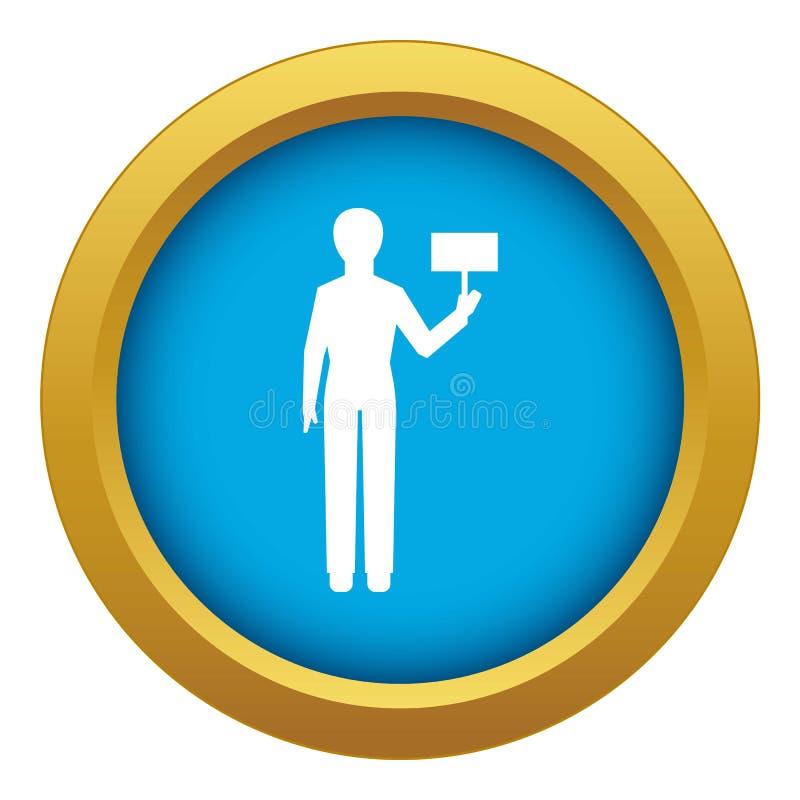 Ατόμων αριθμού εικονιδίων διάνυσμα που απομονώνεται μπλε διανυσματική απεικόνιση