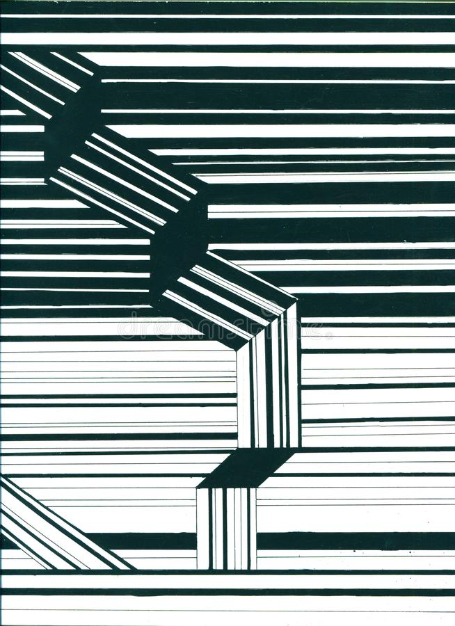 Αφηρημένες εξαγωνικές μοριακές δομές στο υπόβαθρο τεχνολογίας και το ύφος επιστήμης Συρμένο χέρι σχέδιο γραμμών απεικόνιση απεικόνιση αποθεμάτων