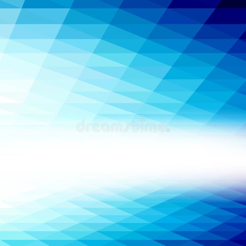 αφηρημένη ανασκόπηση Το μπλε τρίγωνο Αφηρημένη μπλε ανασκόπηση με τη θέση για το κείμενο απεικόνιση αποθεμάτων