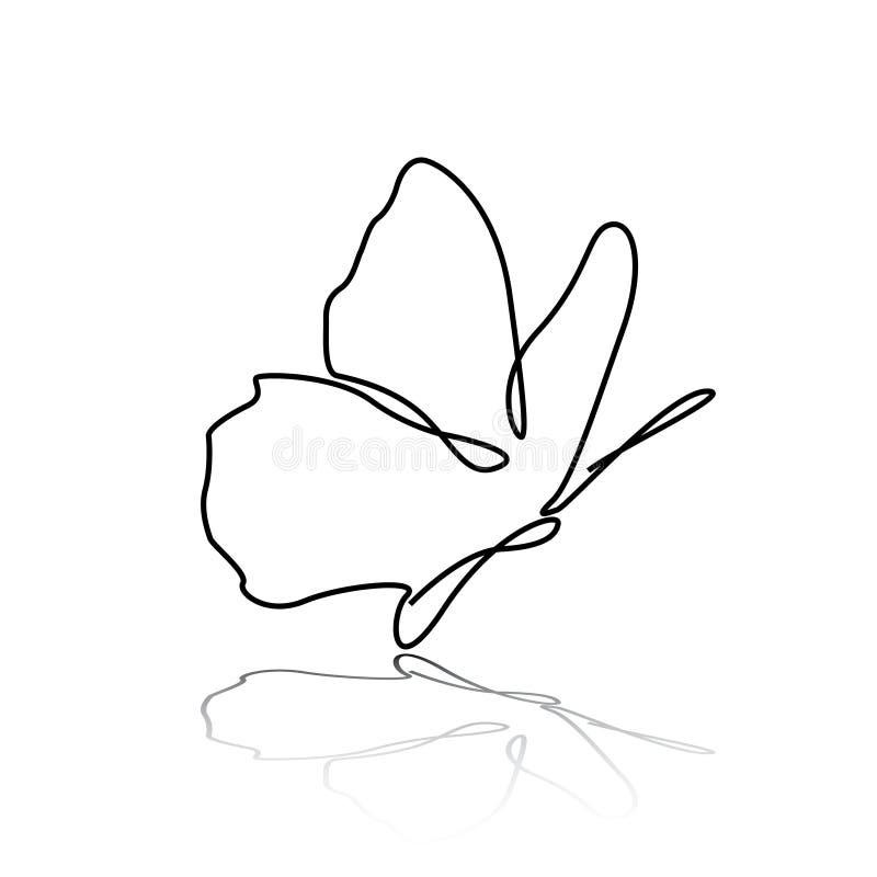 Αφηρημένη όμορφη πεταλούδα ελεύθερη απεικόνιση δικαιώματος