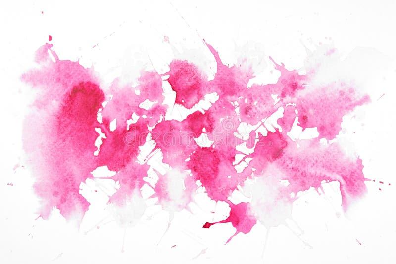 Αφηρημένη σύσταση ζωγραφικής χεριών τέχνης watercolor που απομονώνεται ελεύθερη απεικόνιση δικαιώματος